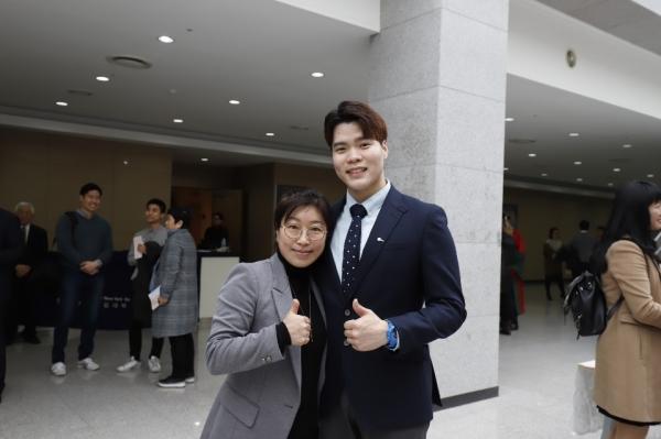양정숙씨와 아들 김세진군 ⓒ양정숙씨 제공