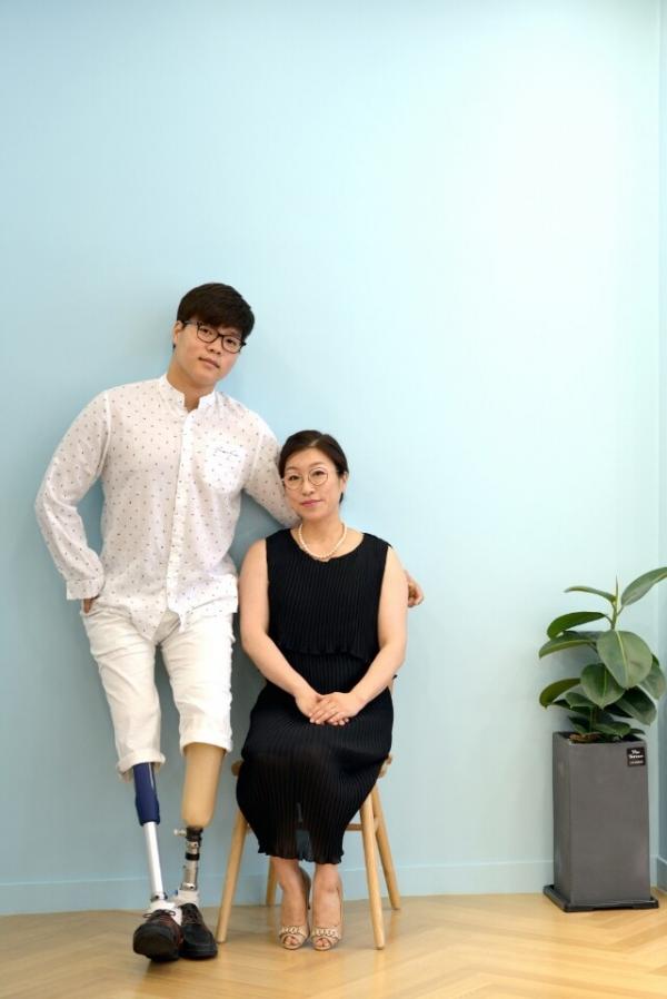 양정숙씨와 아들 김세진군 ⓒ양정숙씨 젝오