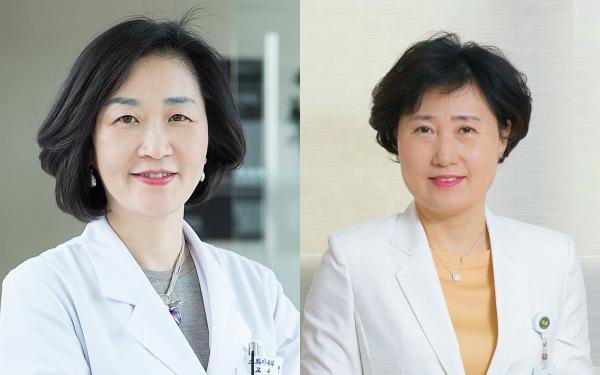 정성애 교수(왼쪽)과 현석경 간호부원장 ⓒ이대목동병원