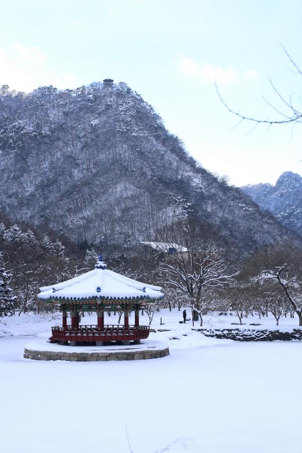 이틀 간 폭설이 그친 후의 전북 정읍 내장산 우화정 ⓒ뉴시스.여성신문