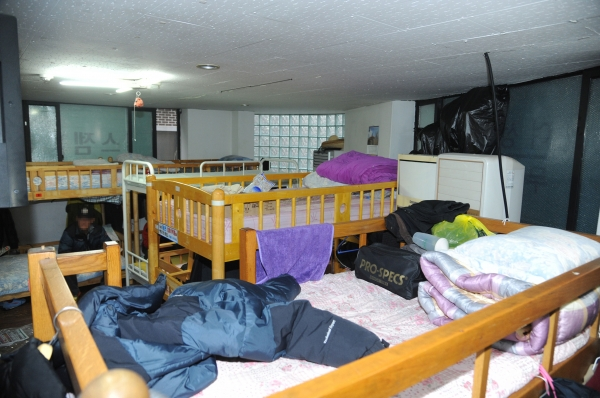 모란역 인근 성남 노숙인 종합지원센터 응급 잠자리 ⓒ성남시