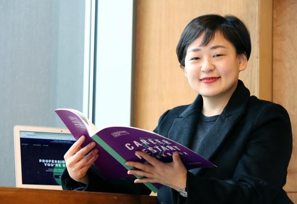 경력보유여성의 경제활동과 역량강화를 돕는 채용 플랫폼 위커넥트의 대표를 맡고 있는 김미진 대표를 10일 서울 성수동 창업지원공간 '카우앤독'에서 만났다. ⓒ이정실 여성신문 사진기자
