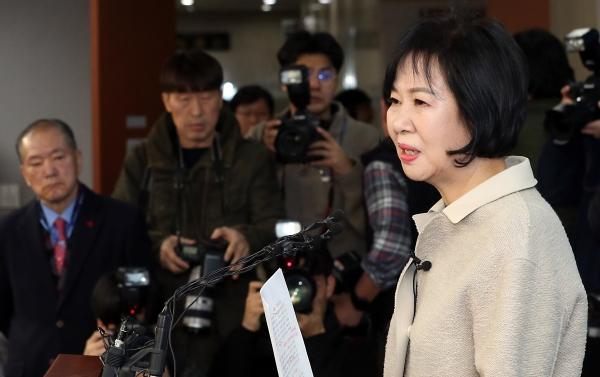 목포 부동산 투기 의혹을 받고 있는 손혜원 더불어민주당 의원이 20일 서울 여의도 국회 정론관에서 기자회견을 갖고 민주당을 탈당하겠다고 밝혔다. ⓒ뉴시스