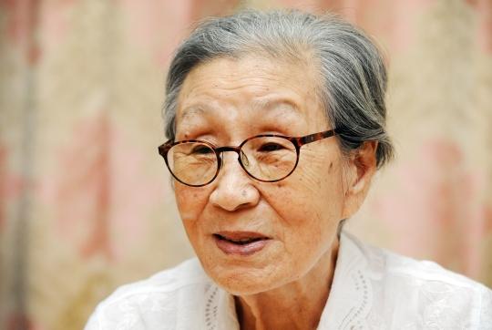 일본군 위안부 피해자인 김복동 할머니.