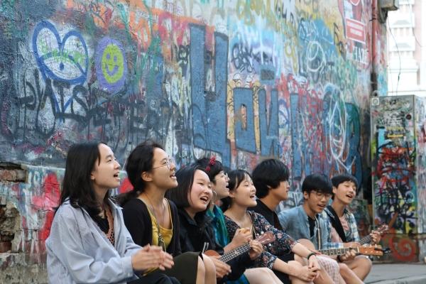 하자센터의 주말로드스꼴라 프로그램에 참가한 청소년들. ⓒ하자센터