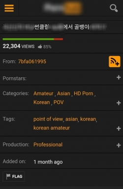 외국 유명 포르노 사이트에 올라온 클럽 버닝썬에서 이루어진 약물강간 영상. 현재는 삭제됐다.