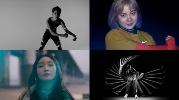 나이키가 진행하는 '너라는 위대함을 믿어' 캠페인 영상에 등장한 엠버, 박나래, 청하, 박성현 ⓒ나이키 제공