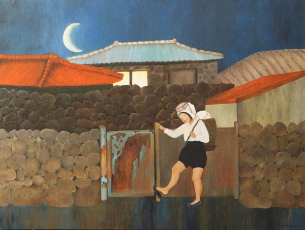 해녀 그림작가 김재이는 미국 미네소타에 위치한 레드윙 아트갤러리 주최로 초대 개인전 '해녀'를 22일부터 5월 15일까지 7주간 셸던 극장의 미술 전시장에서 연다. ⓒ김재이