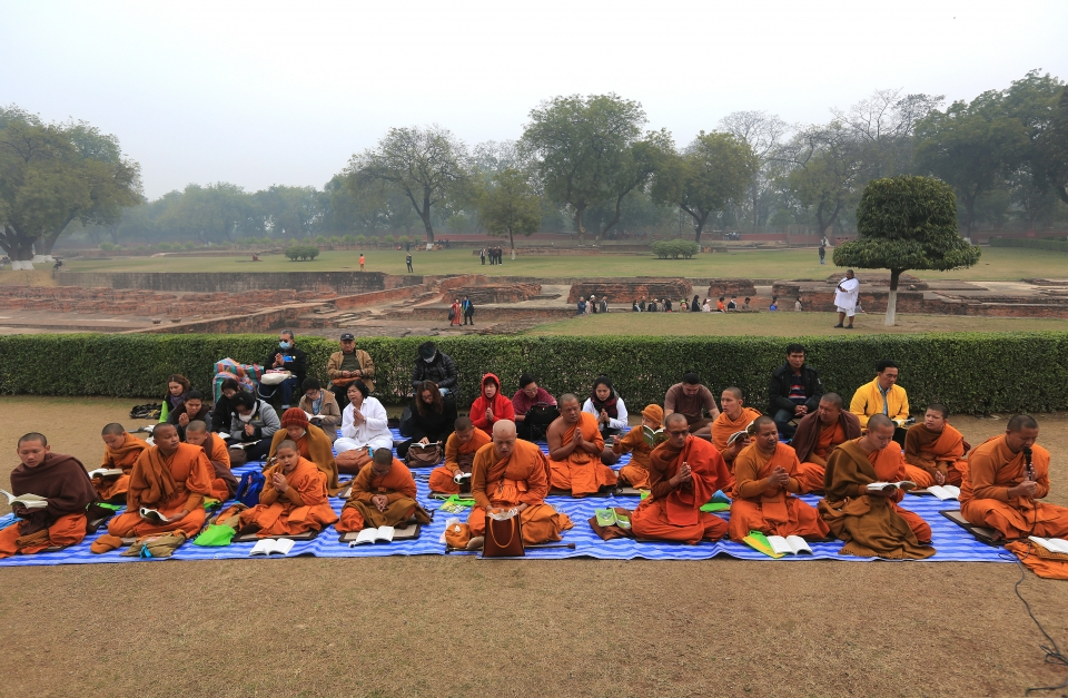 바라나시에 있는 불교의 4대 성지 녹야원 내의 부처님이 처음으로 설법하였던 사슴공원 ⓒ김경호
