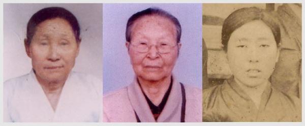 제주해녀항일운동의 주역인 부춘화·김옥련·부덕량 지사(왼쪽부터)