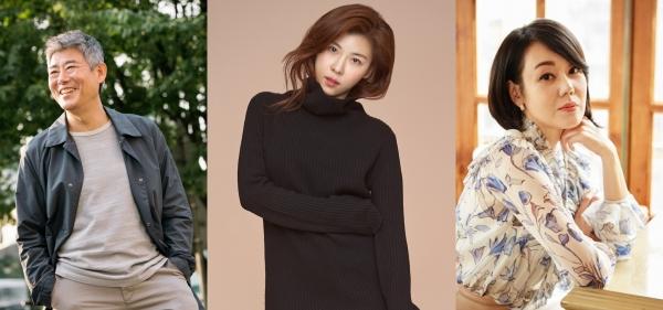 (왼쪽부터) 성동일, 하지원, 김윤진 ⓒCJ 엔터테인먼트