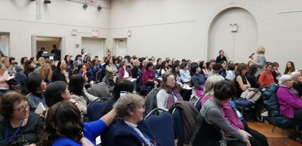 3월 13일 미국 뉴욕에서 제63차 유엔 여성지위위원회 NGO 부대행사로 열린 '동북아 여성지도자: 한반도 평화' 행사 현장.  ©김정수