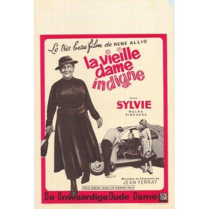 1965년 베르톨트 브레히트의 원작을 바탕으로 프랑스에서 제작된 영화 '품위 없는할머니'(La Vieille dame indigne) 포스터.