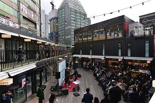 신촌 도시재생 주민사업'이 펼치질 공간 가운데 하나인 '신촌 박스퀘어' ⓒ서대문구