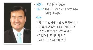 유승현 전 김포시의회 의장