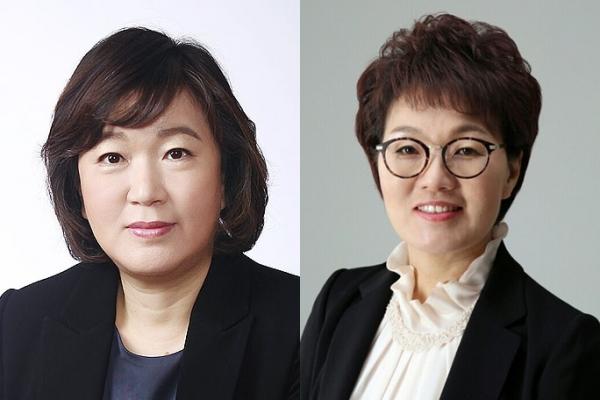 (왼쪽부터) 홍승아 신임 청와대 여성가족비서관, 권향엽 신임 균형인사비서관.