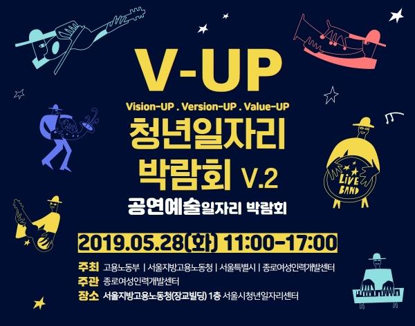 종로여성인력개발센터는 28일 서울시 일자리센터에서 제2회 'V-UP 청년일자리 박람회–공연예술일자리박람회'를 개최한다. ⓒ종로여성인력개발센터
