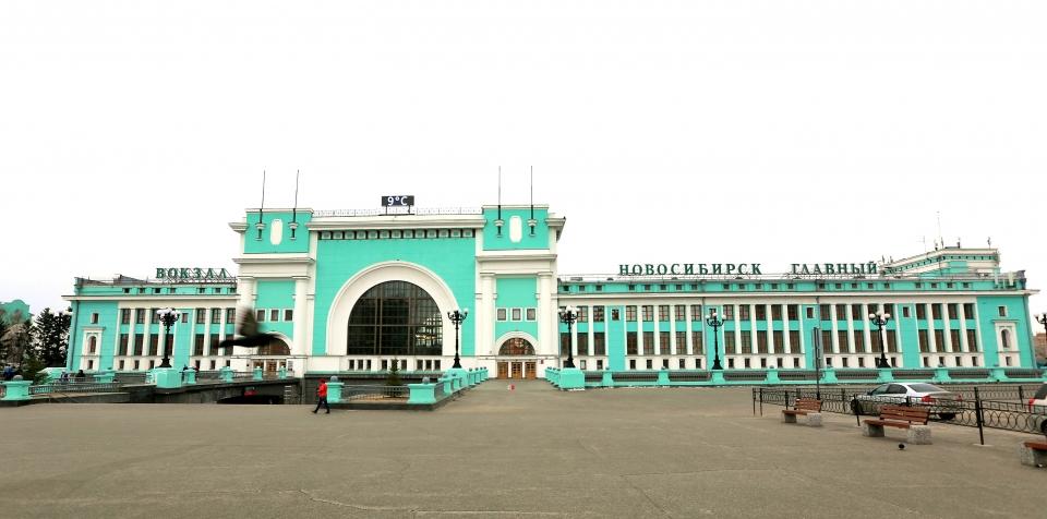 시베리아 횡단철도 역사 중 최대 규모를 자랑하는 노보시비르스크 기차역 ⓒ김경호