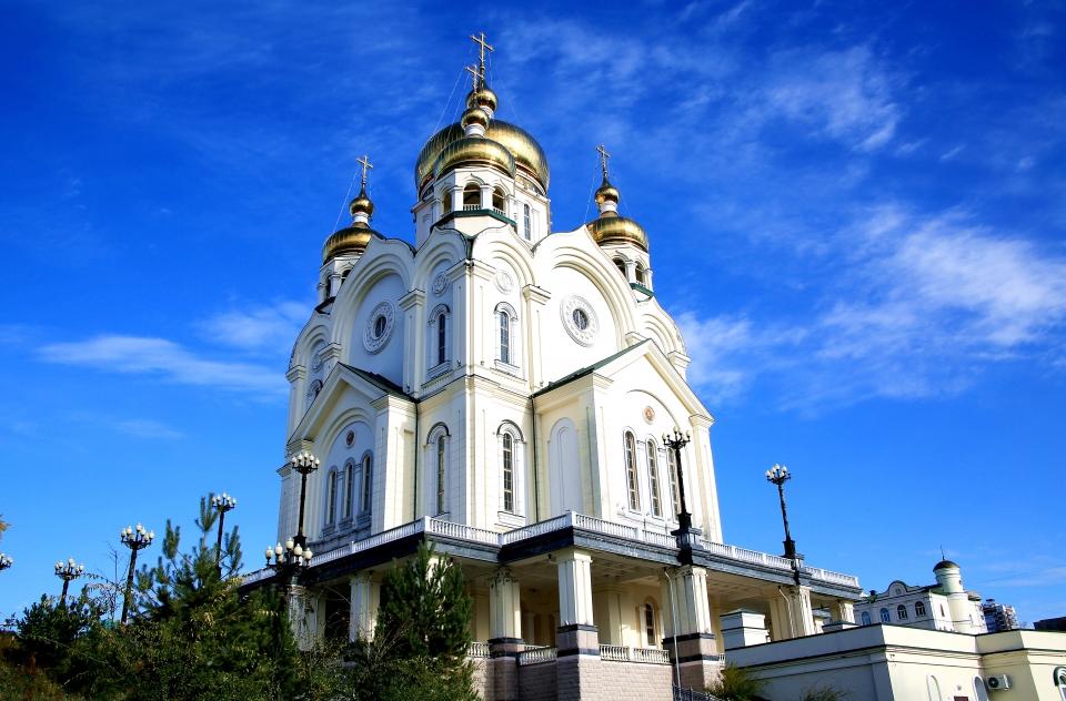 하바로브스크 아무르 강변 언덕에 있는 프레오브라젠스키성당(정교회성당) ⓒ김경호