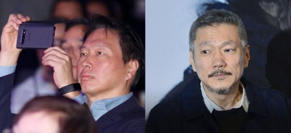 (왼쪽부터) 최태원 SK그룹 회장과 홍상수 감독. ©뉴시스