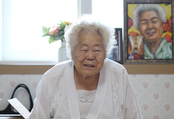 '에움길'에 나온 이옥선 할머니 ⓒ영화사 그램