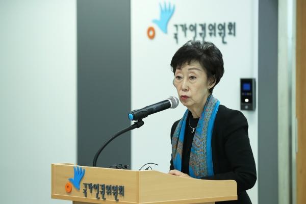 최영애 국가인권위원회 위원장. ⓒ뉴시스·여성신문