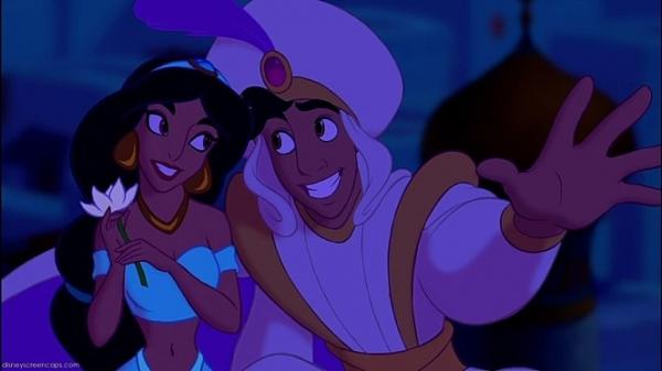 1992년 나온 애니메이션 '알라딘'. 왼쪽이 자스민. ⓒ월드디즈니컴퍼니
