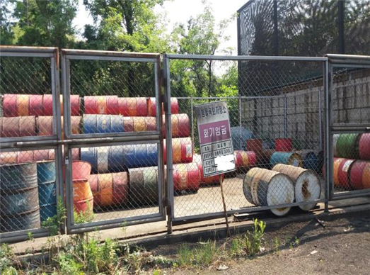 2019년 6월 폭염 방치된 위험물(정선 D공장) ⓒ강원도