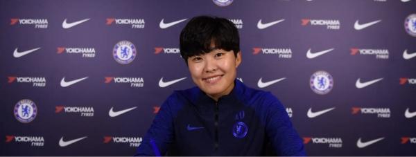 첼시와 3년 연장 계약한 지소연. ⓒ첼시 홈페이지
