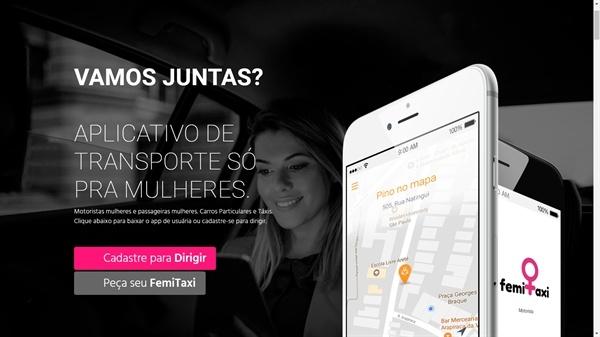 브라질의 여성 전용 택시인 '페미 택시' ⓒ페미 택시 사이트 캡처