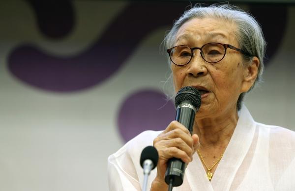 영화 '김복동'의 김복동 할머니. ⓒ엣나인필름