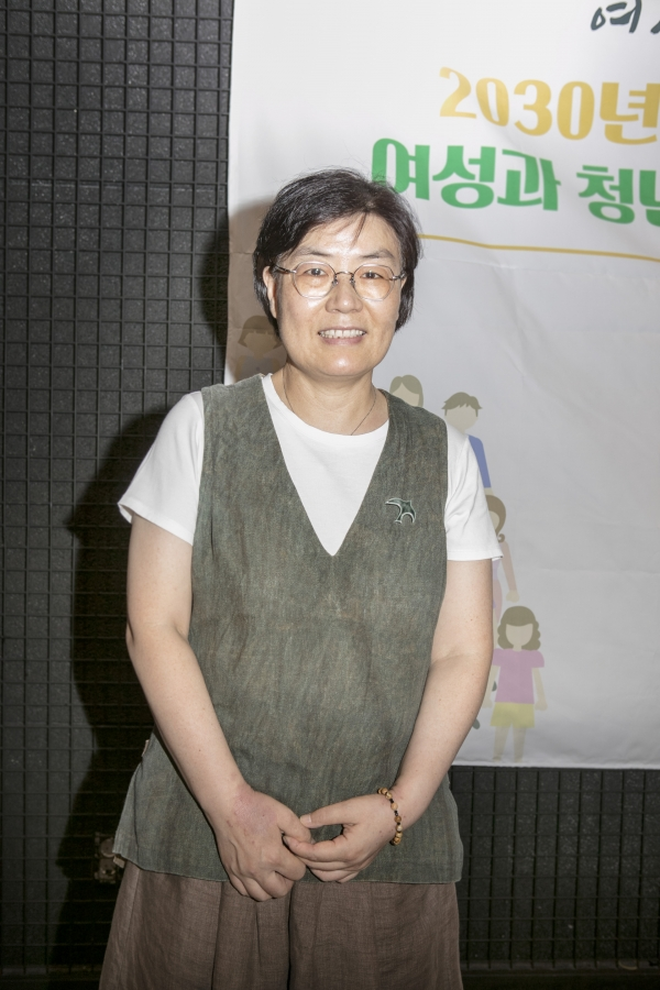 김정수 평화를만드는여성회 상임대표. ⓒ곽성경 여성신문 사진기자