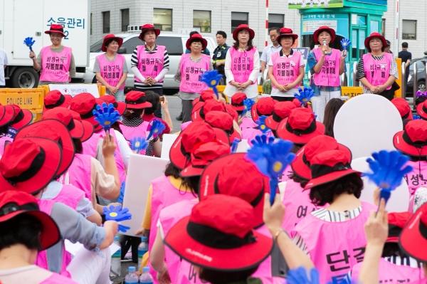 전국 8개 지역 서울, 경기, 인천, 대전, 충북, 전북, 광주, 경남에서 100일 집회에 참석한 지부장들