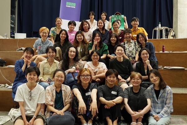 '녹색당 2020 여성 출마 프로젝트'에 참가한 여성들. 20~30대가 중심으로 정치와 정당 경험이 처음인 이들이 많다. / 녹색당