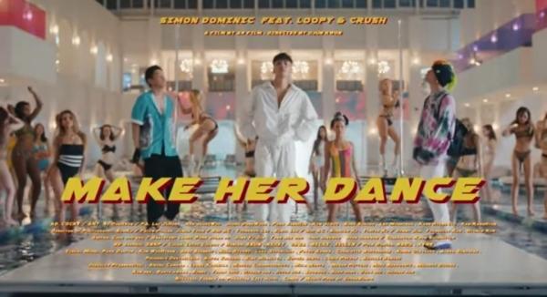 사이먼-도미닉의 'make her dance' 뮤직비디오 한 장면. @유튜브 AOMGOFFICIAL