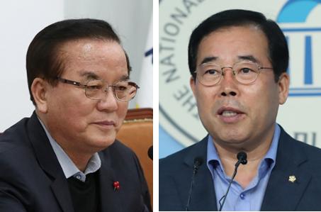정갑윤(왼쪽)·박성중 자유한국당 의원 / 뉴시스