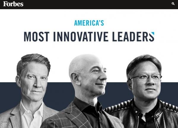 포스브 '미국에서 가장 혁신적인 리더 100인'  / 포브스 홈페이지