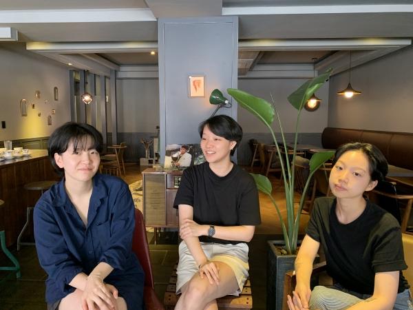 '보슈'를 만드는 서한나 편집장, 권사랑 대표, 신선아 디자이너(왼쪽부터). ©이지혜