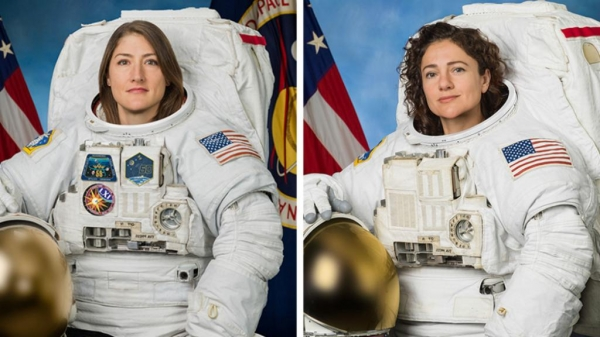 크리스티나 코크(왼쪽)와 제시카 메어. ⓒWomenNASA 트위터