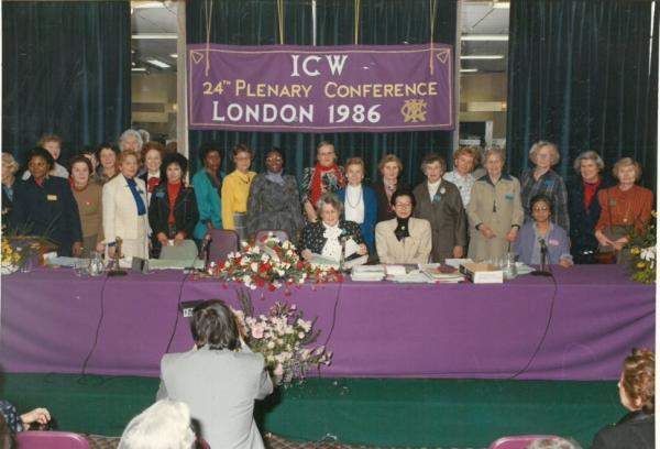 1986년 제24차 ICW 총회 참석  ⓒ한국여성단체협의회