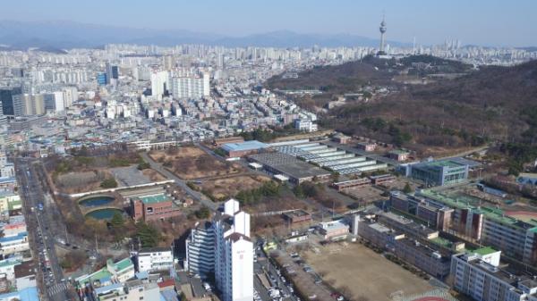 대구시 신청사건립후보지로 확정된 '달서구 옛 두류정수장'
