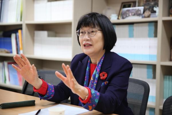 정희선 한국여성과학기술단체연합회 회장 ⓒ여성신문