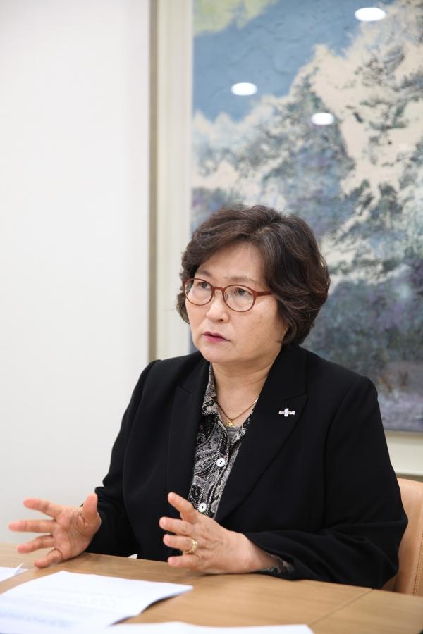 1월31일 문미란서울시정무부시장은 서울시청에서 여성신문과 인터뷰를 하고있다.