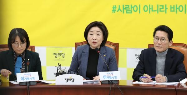 정의당 심상정 대표와 윤소하 원내대표. ⓒ뉴시스·여성신문