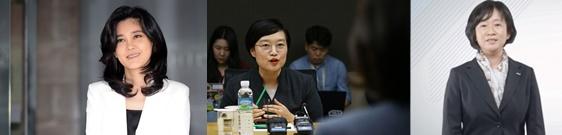 이부진(왼쪽부터) 호텔신라 사장, 한성숙 네이버 대표, 김선희 매일유업 사장. 뉴시스