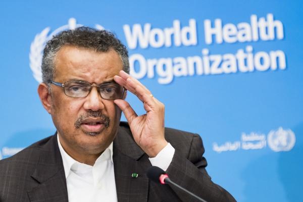 테드로스 아드하놈 게브레예수스 세계보건기구(WHO) 사무총장이 30일(현지시간) 스위스 제네바의 WHO 본부에서 긴급 이사회 이후 기자회견을 하고 있다. WHO는 신종 코로나바이러스 감염증(우한 폐렴)과 관련해 '국제 공중보건 비상사태'(PHEIC)를 선포했다. WHO가 앞서 PHEIC를 선포한 사례는 총 5번으로 2009년 신종플루(H1N1), 2014년 야생형 소아마비, 2014년 서아프리카의 에볼라, 2016년 지카 바이러스, 2018년 콩고민주공화국의 에볼라 등이다. AP뉴시스·여성신문