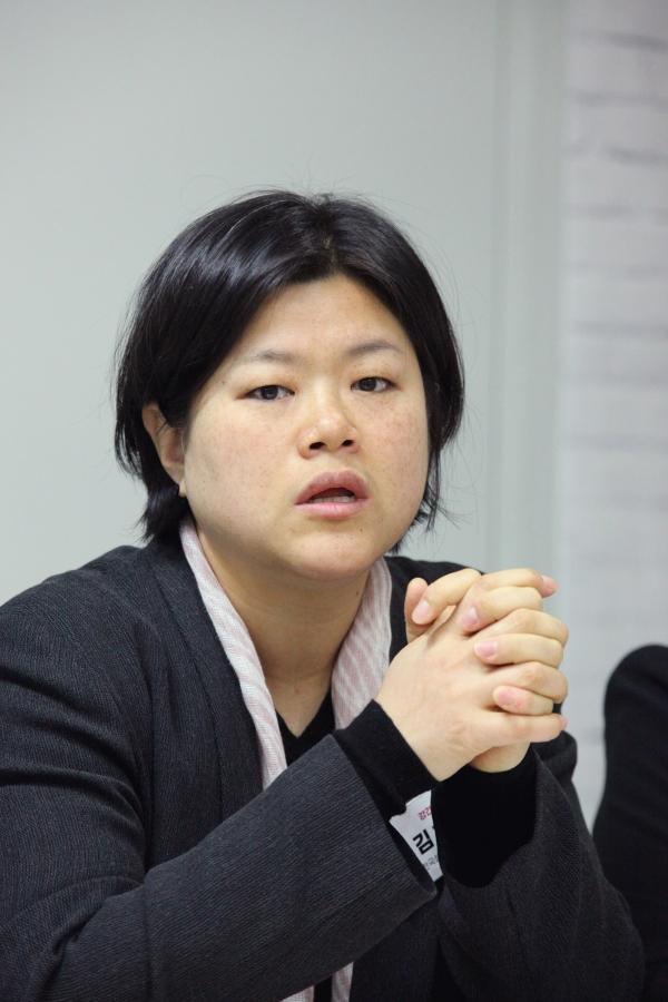 김혜정 한국성폭력상담소 부소장여성정책 전문가 간담회에서 발언을 하고 있다. ⓒ홍수형 기자