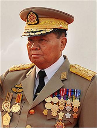미얀마의 독재자 네윈 장군.