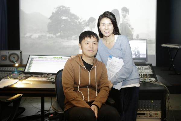 배리어프리 버전 제작에 참여한 장건재 감독과 이승연 배우. ©배리어프리영화위원회