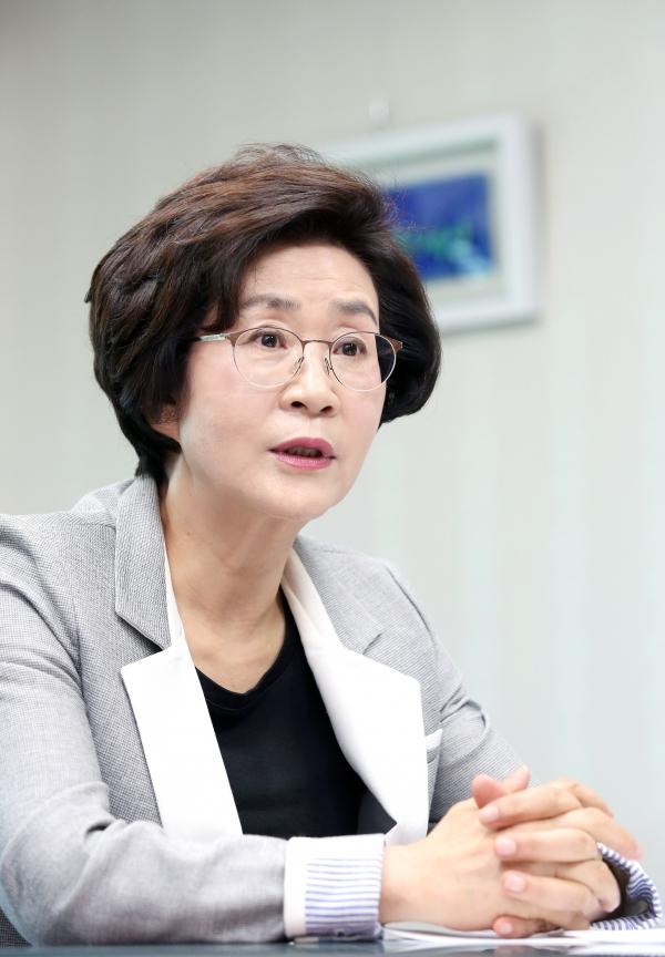 김상희 더불어민주당 여성정치참여확대위원회 위원장 ⓒ이정실 여성신문 사진기자